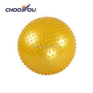 PVC material body building exercise Pilates spiky yoga ball