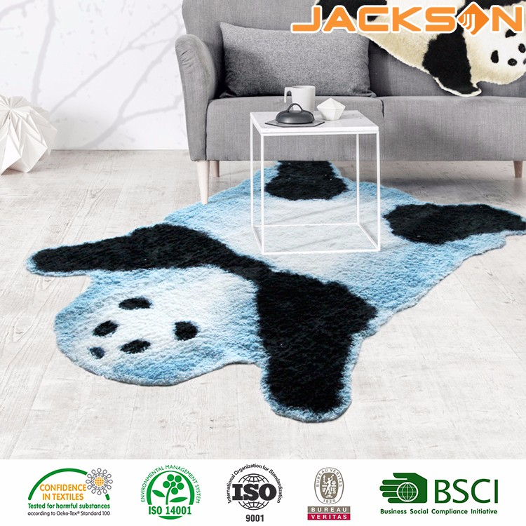 Hot selling cheap non-woven backing door floor faux fur carpet