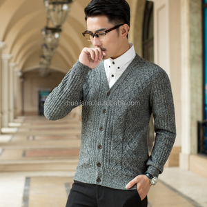 Made in China man's cashmere knitting cardigan