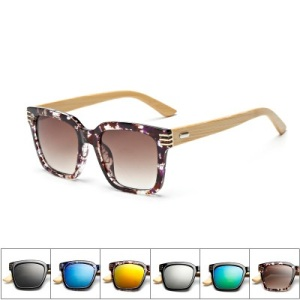 59ca85c9178 HDCRAFTER Fashion Bamboo Sunglasses Vintage Square Wooden Sunglasses Men  and Women Brand Design Original Wood Retro