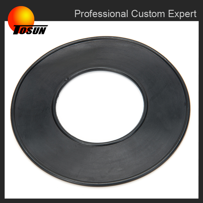 NBR/EPDM water-proof 10mm round flat rubber gasket with ISO9001