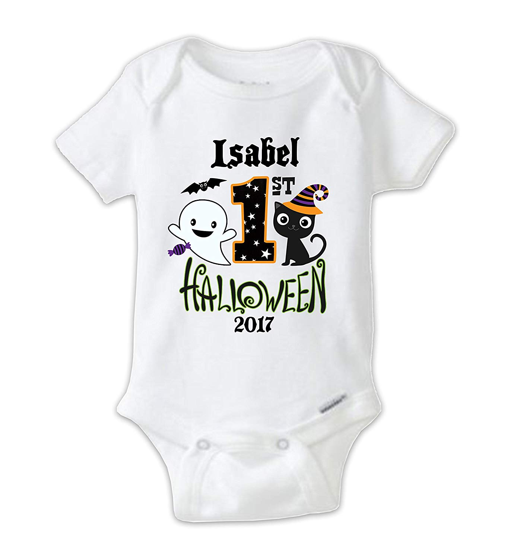 675be78cb Get Quotations · Juju Apparel Custom Halloween Baby Bodysuit, First Halloween  Onesie, My First Halloween Shirt,