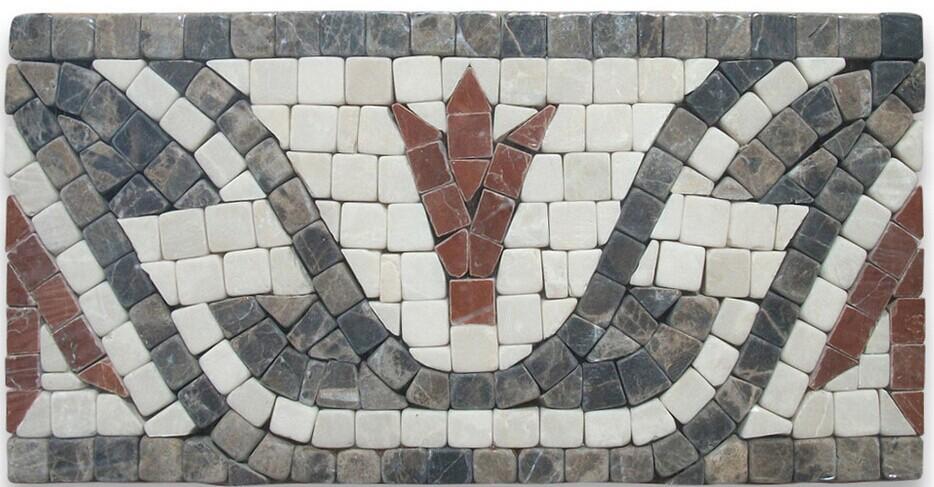 Marble flower pattern mosaic border liners tiles buy border liners marble flower border mosaic - Deco corridor zwart wit ...