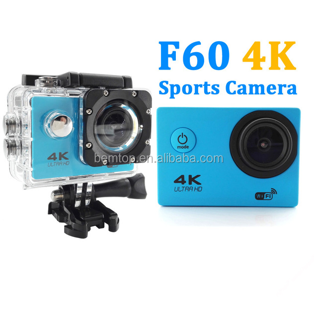 "Action Camera 4K / 24fps F60 Allwinner WiFi 2.0"" 170D waterproof Helmet Cam go pro Style Underwater Sport Camera"