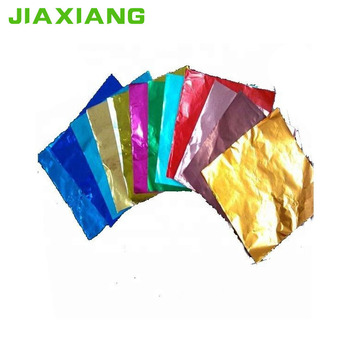 Custom Printed Colored Aluminium Foil Chocolate Wrapper Paper Sheet Buy Aluminium Chocolate Wrapper Paper Colored Aluminium Foil Product On