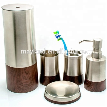 Whole Brand Name Simply Luxury Chinese Home Center Hotel Modern Stainless Steel Bathroom Accessories Set