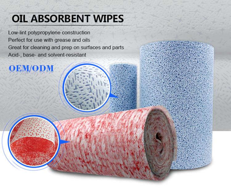 तेल अवशेषी 100% polypropylene meltblown nonwoven कपड़े