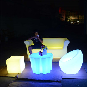 light up furniture waterproof outdoor led bar furniture set sectional sofas chair table with lighting