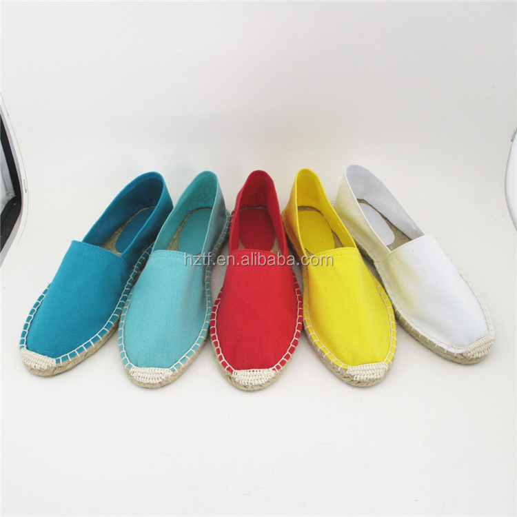 Slip-On Style and Rubber Insole Material Flat Espadrilles