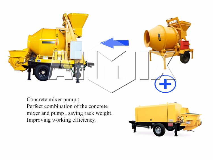 Top factory the price of concrete pump small concrete mixer truck on sale