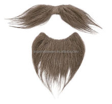 Party use artificial mustache mans brown fake beard with high quality MH2060