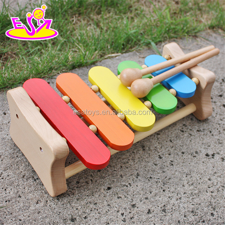 2016 wholesale new baby toy wooden mini xylophone W07C048
