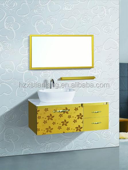 cheap hotel ss acero inoxidable mueble de bao vanidad muebles
