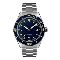 Men's stainless steel Diver Watch, automatic mechanical watch, 200 Water Resistant Ceramic Bezel Watch