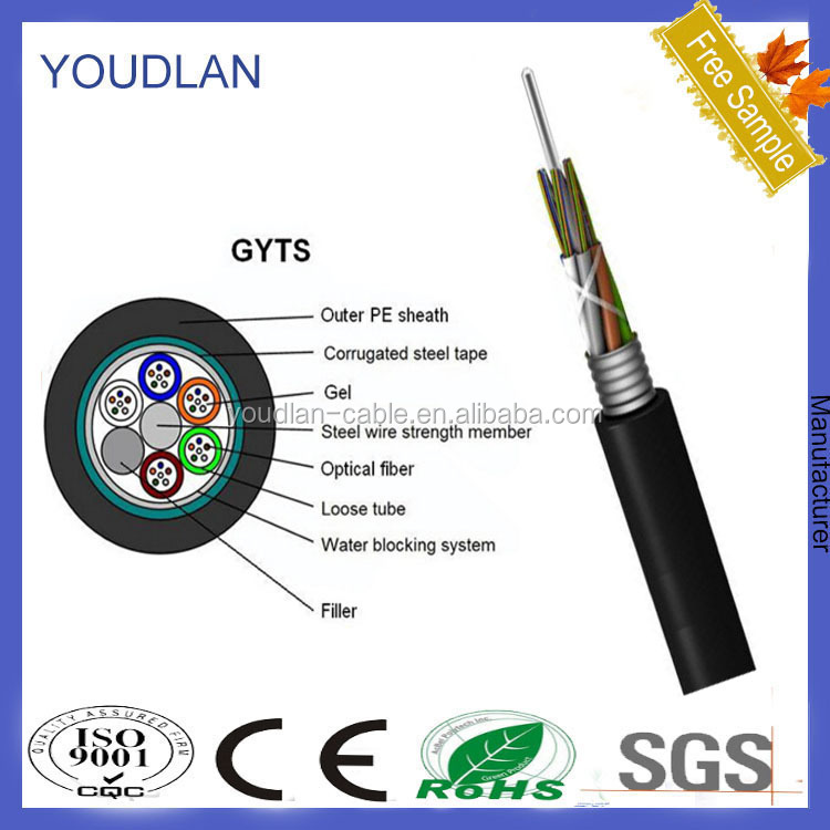 High quality outdoor optic fiber cable GYTS