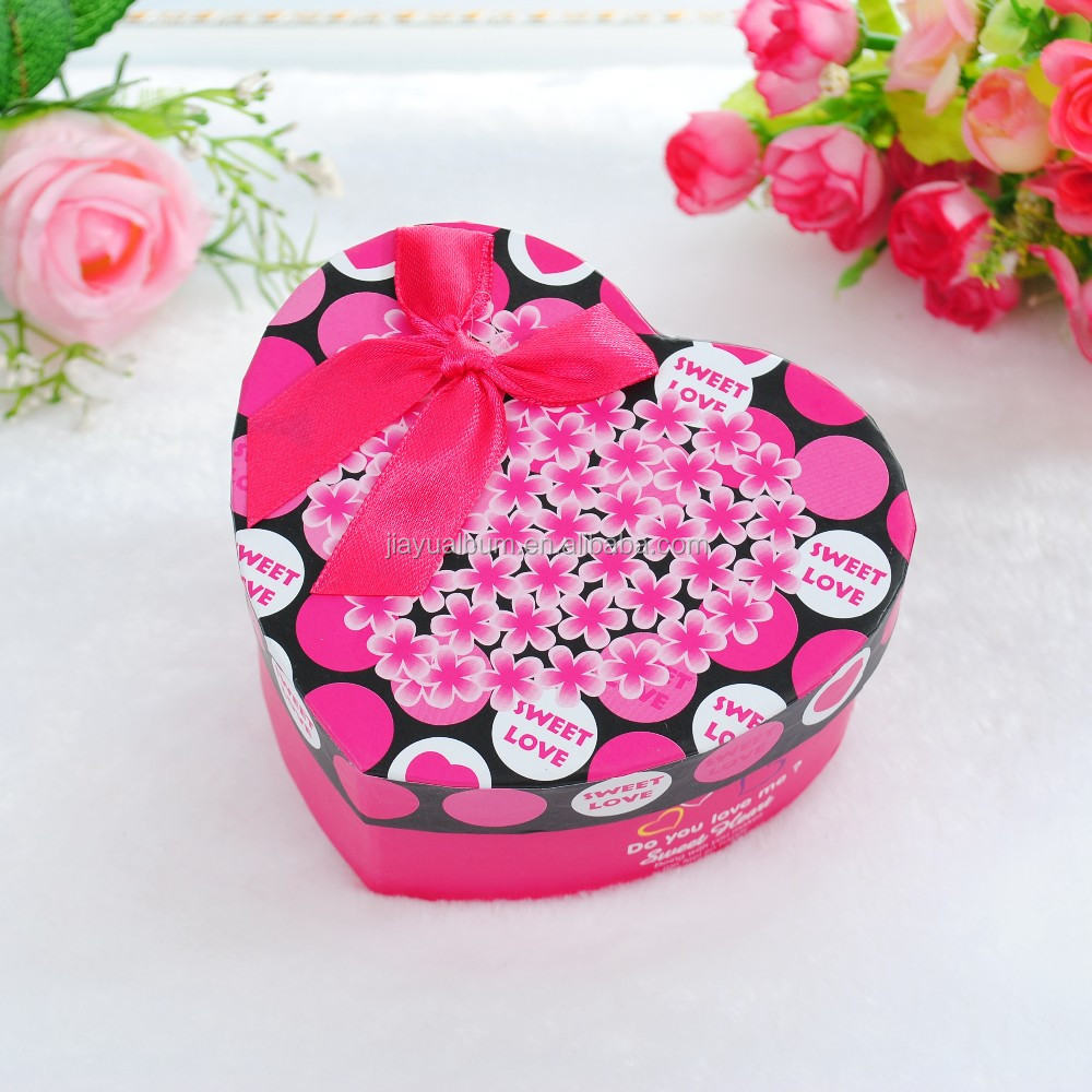 Romantic Paper Craft Wedding Candy Gift Box/red Pink Heart Birthday ...
