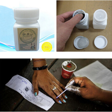 Indelible Marking Pen Ink for Mali Voting with 5% 25% Silver Nitrate
