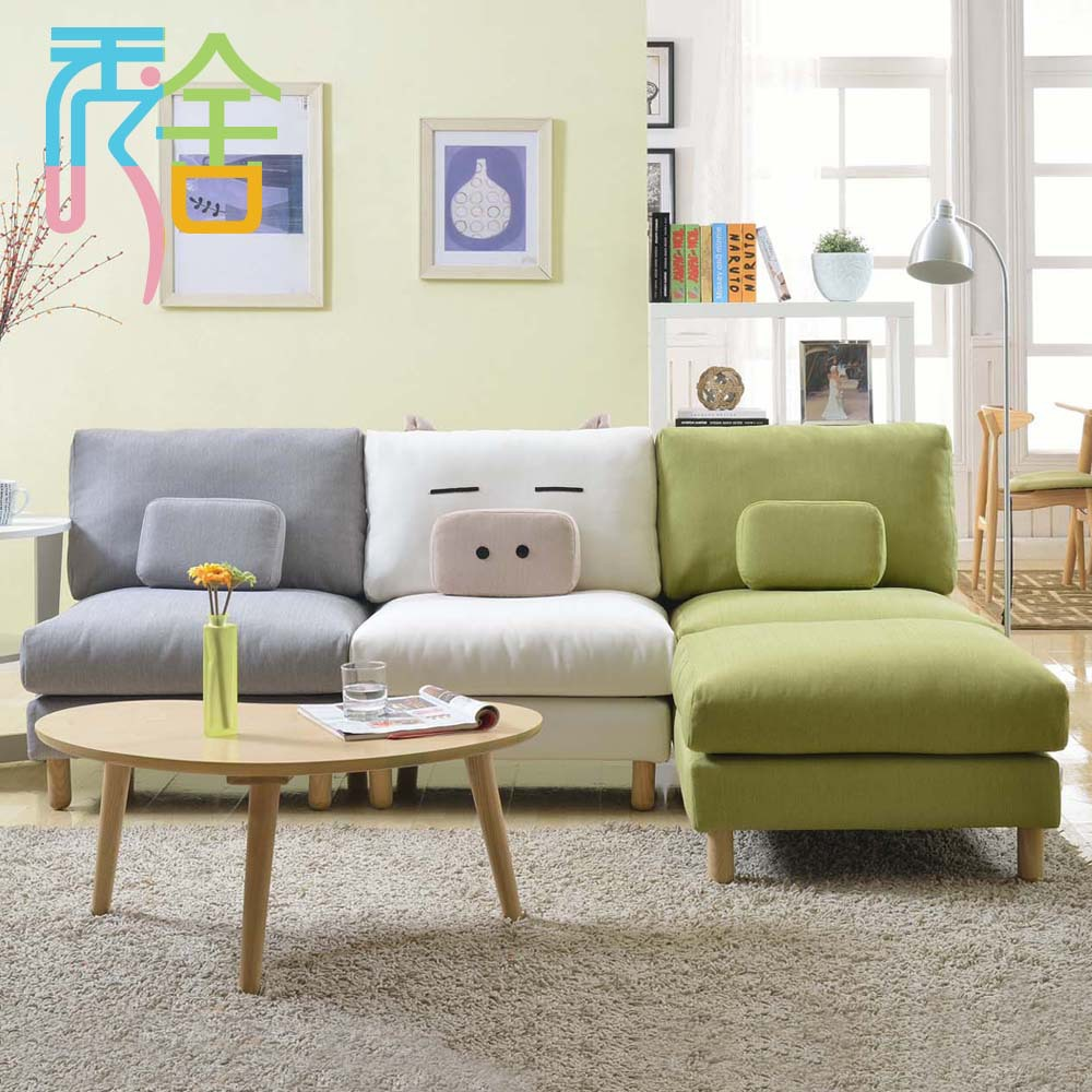 Show homes sofa korean small apartment around the corner - Corner tables for living room online ...