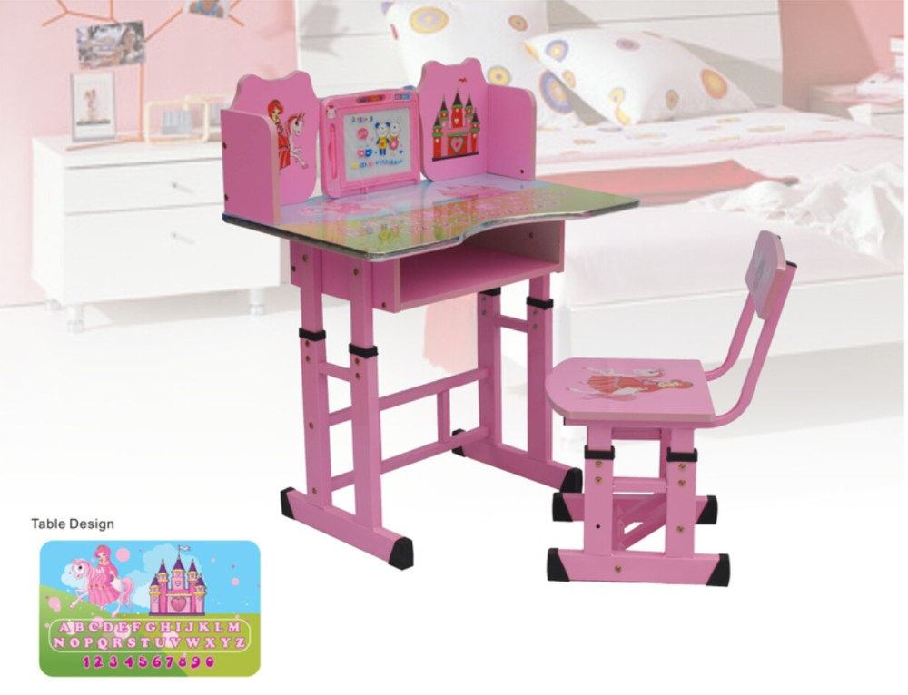 school furniture student kids living room single desk and chair with