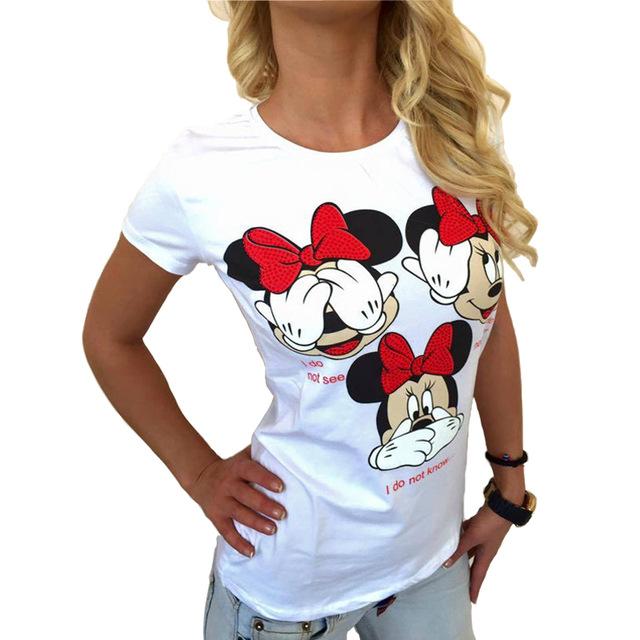 Tee Femme Tops Mickey Shirt Women Vogue Print T Shirts Sexy Plus Size T Shirt Qamc 3409 Buy Mickey Shirtt Shirt Womenwomen Shirt Product On