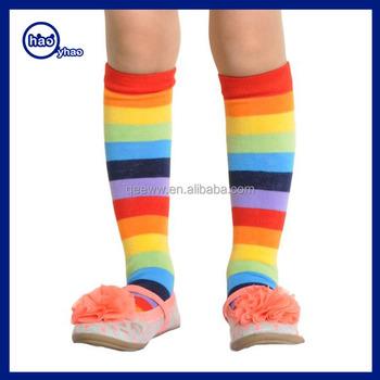 9df61fdb26d Bright Color Stripe Baby Kids Knee High Stockings Tube Socks ...