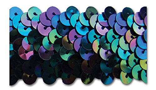 BLACK IRIS 1-1/4 INCH STRETCH SEQUIN-NEW!!!! LOW PRICE 10 Yards