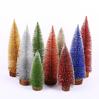 Christmas table decoration colorful PVC mini artificial christmas tree