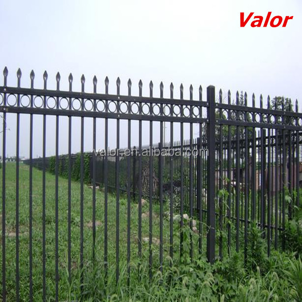 Low Price Wholesale Metal Fence Spikes Wrought Iron Fence For Sale