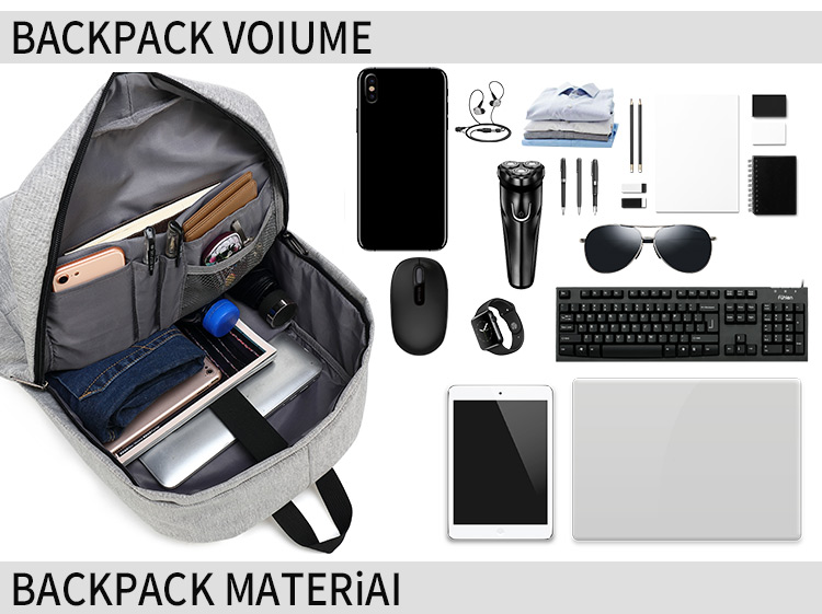 Insulate printed computer capacity anti-theft laptop shoulder bag large mens school backpack