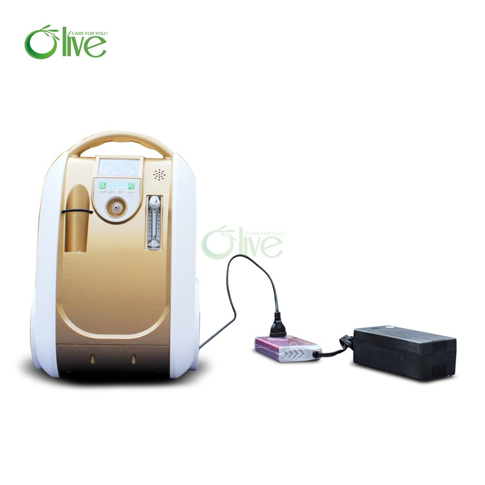 portable Oxygen Concentrator with Oxygen Purity Indicator