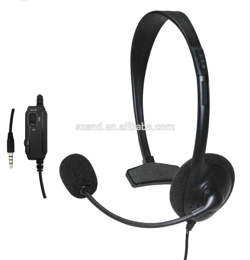 unilateral wired small gaming headset earphones headphones for sony playstation4 ps4 buy. Black Bedroom Furniture Sets. Home Design Ideas