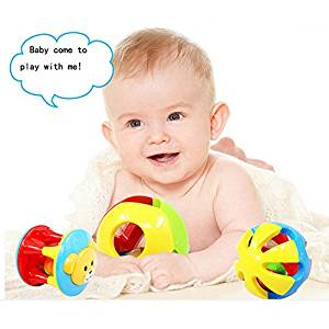 Baby & Toddler Toys Ball2pcs Baby Toy Fun Little Loud Jingle Ball,Ring jingle Develop Baby Intelligence,Training Grasping ability Toy For Baby 6M-1Year By Oneoftheworld99