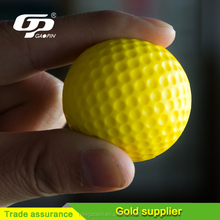 New Yellow PU Glof Training Ball Indoor Outdoor Elastic Foam Golf Balls