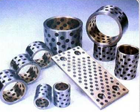 Flanged bushings self lubricating composite oilless slide plain bearings