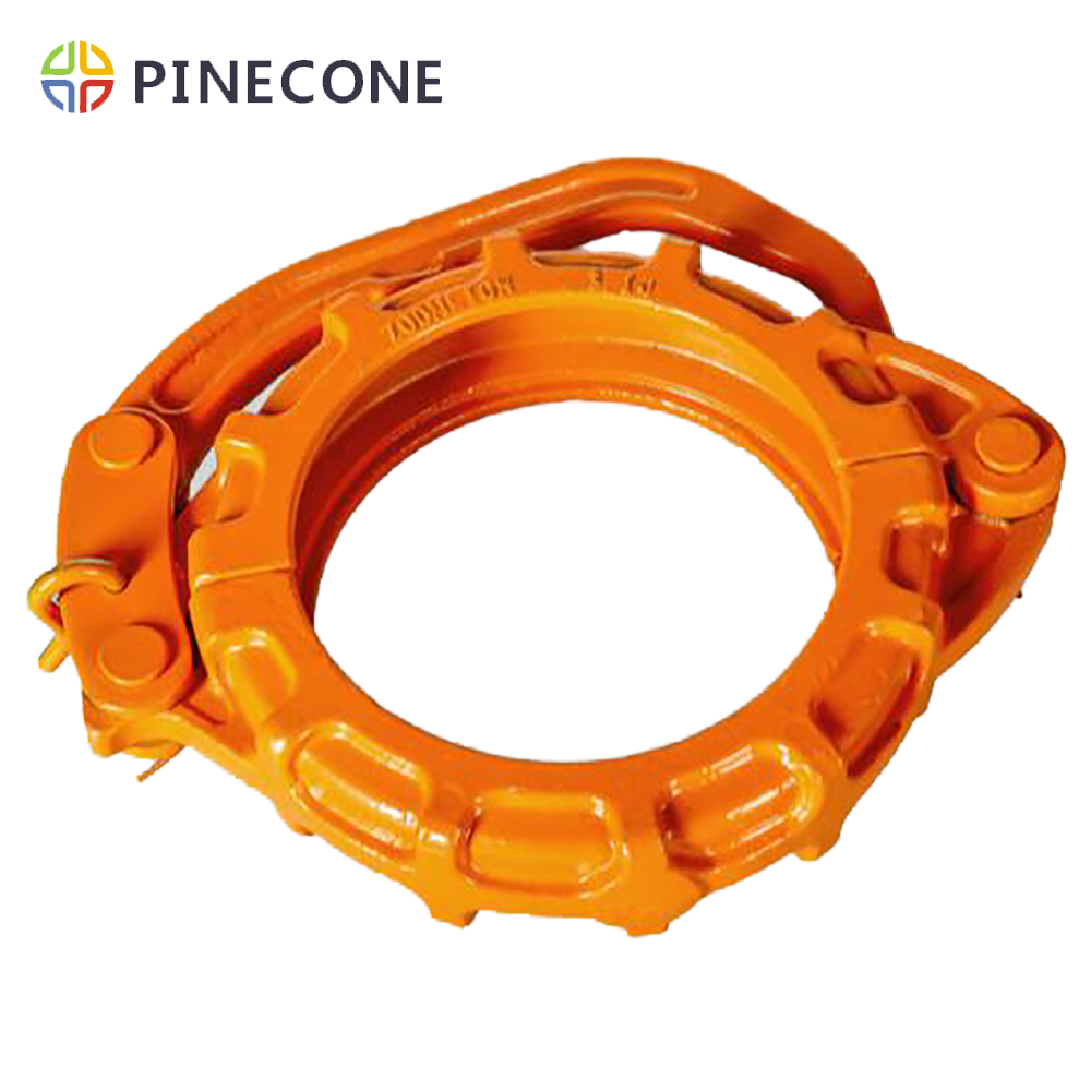 DN125 DN150 DN180 Concrete Pump Rubber Hose Clamp For Zoomlion Sany Putzmeister Schwing Concrete Pump Pipe Clamp Coupling