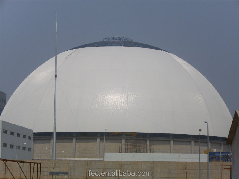 Outdoor Prefab Buildings Large Span Dome Coal Storage