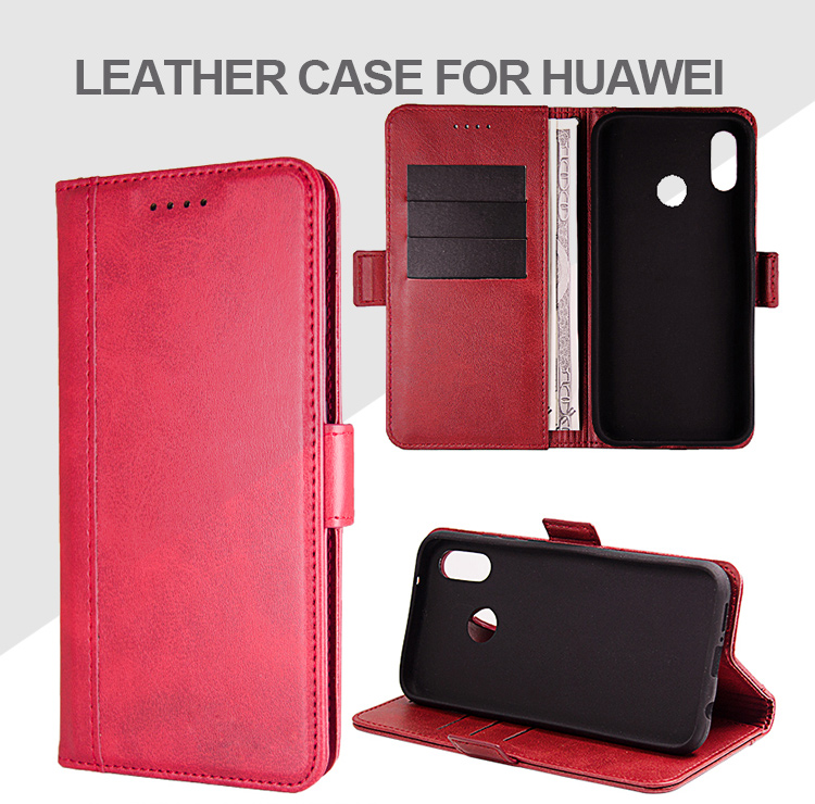 2019 trend mobile accessories universal card holder genuine leather phone case shockproof phone case for Huawei P20 lite