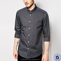 oem apparel high quality mens italian satin shirts new design long sleeve cut away collar shirts for men