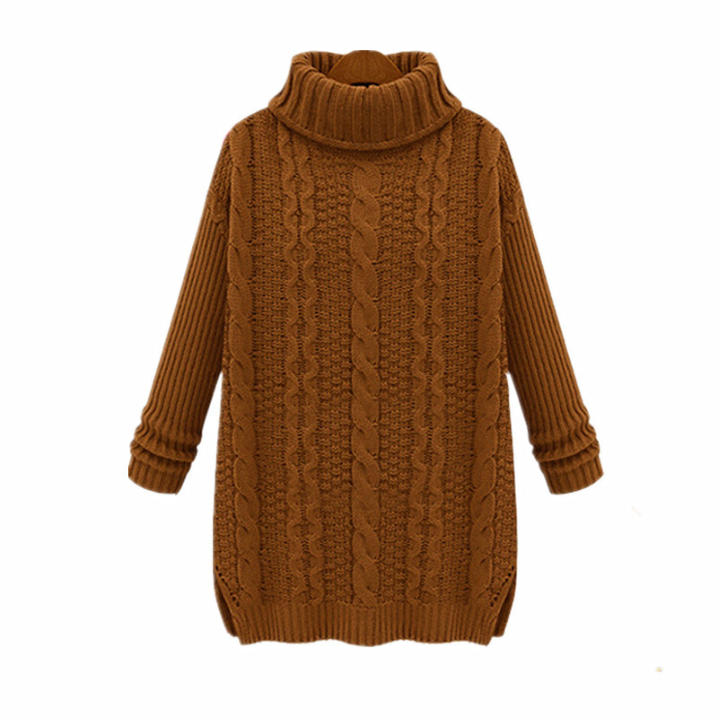 06555aa218 Get Quotations · Want Wool Women Knitted Sweaters And Pullovers Fashion 2015  Autumn Oversized Turtleneck Sweater Cute Winter Women
