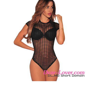 5d08bb65c Hot Sale Nude Transparent Black Women Sexy G String Lingerie Teddy ...