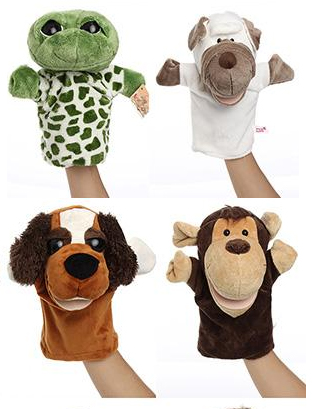 Customize push hand puppets for sale ,finger puppets