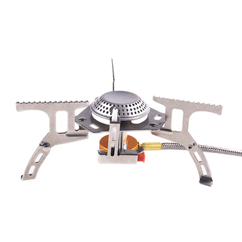 Stainless Steel Single Burner Field Gas Cooking Stove Camping