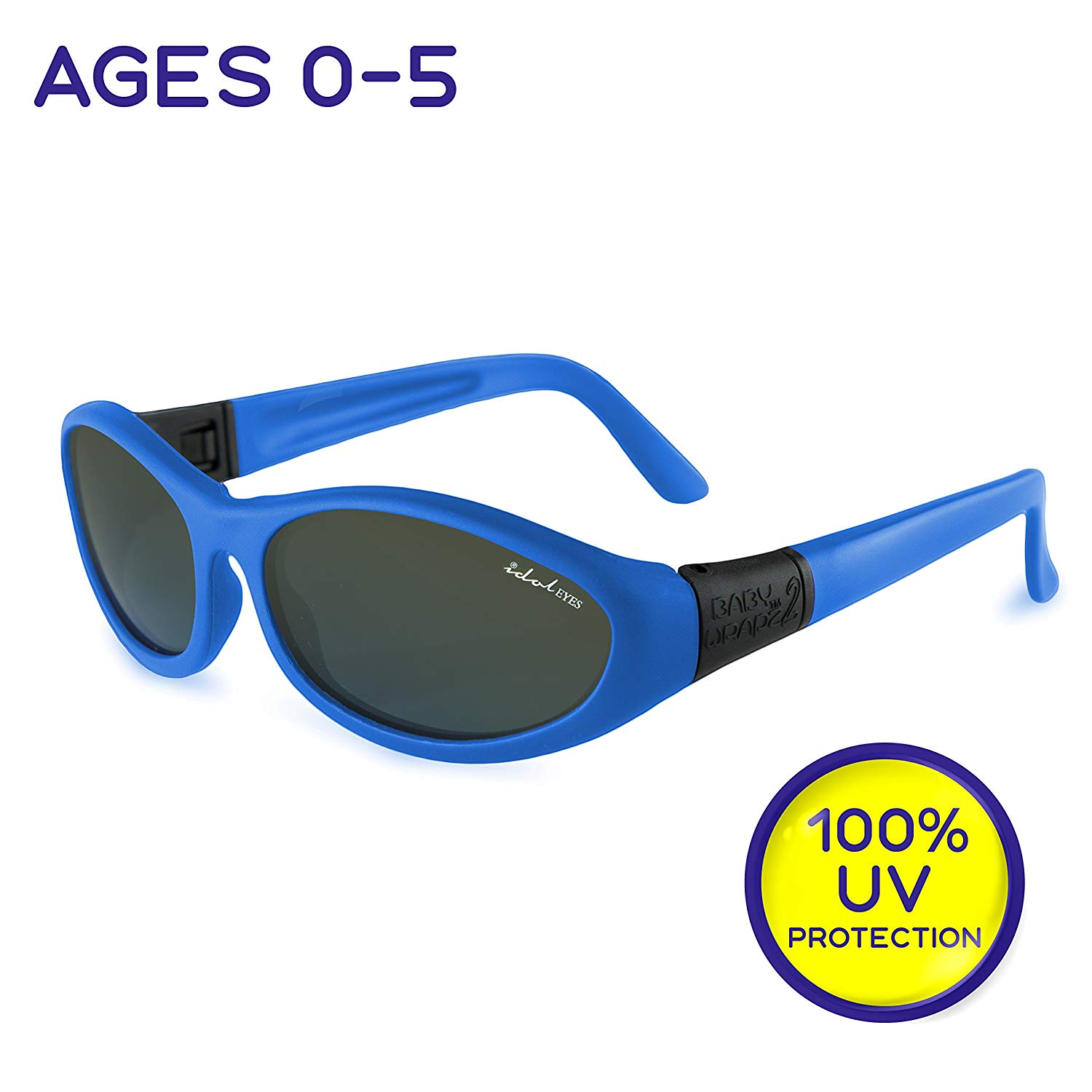 b97bb4f152f4 Get Quotations · Baby Wrapz 2 Kids Sunglasses for Kids - 100% UV Protection Baby  Sunglasses with Strap