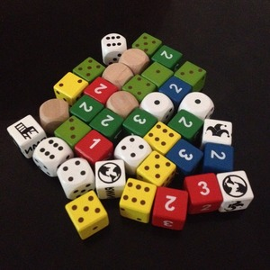 Mixed Color 16mm Square Wood Dice Kid Toys Game Dice