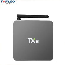 TX8 4K android tv box Full hd S912 Octa Core Dual band Wifi and Bluetooth 1000M Ethernet somali box tv