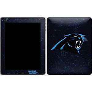 NFL Carolina Panthers iPad Skin - Carolina Panthers Distressed Vinyl Decal Skin For Your iPad