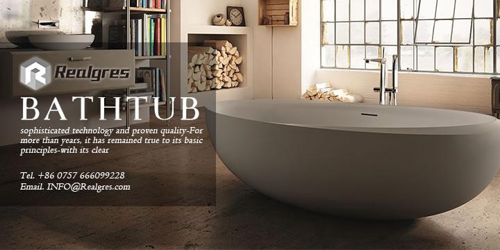 realgres standard bathtub size with flower pattern carve bathtubs
