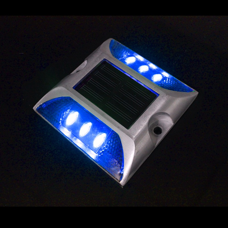 Cat Eye Reflector Solar Road Stud Blue Steady Night Light ...