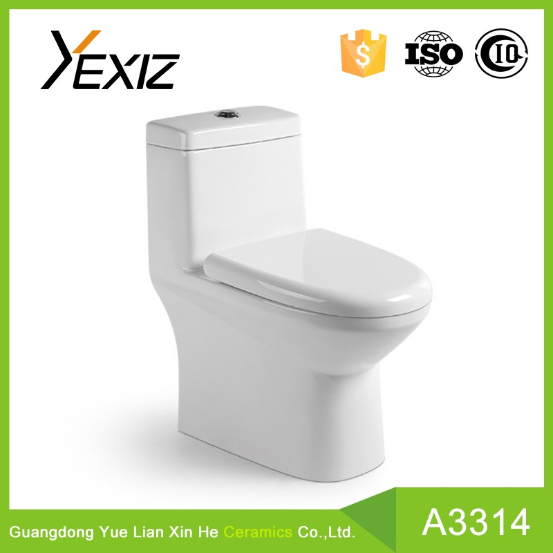 A3314 YEXIZ Classic Bathroom Siphonic One-piece Toilets Elongated Toilets Promotion Items with Dual-flush