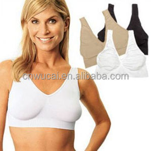 5f72879692 Wireless Sports Bra without pads seamless Genie Ahh Bra ladies STRAPLESS  vest